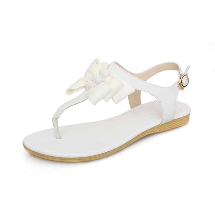 Latest Ladies Flat Sandals white Sandals ladies Pu Sandals - Buy ...