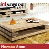 Newstar Good Quality Polished Travertine Marble Coffee Table