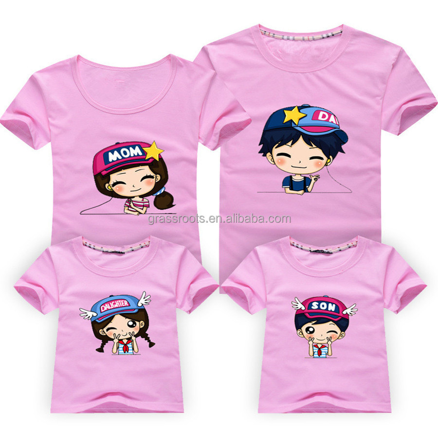 Design tshirt family - 2015 Wholesale Family Round Collar Printed T Shirt Designs Latest Family Clothing Of Summer Wear