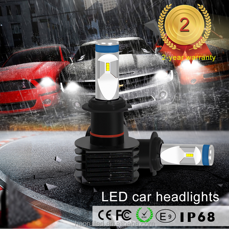 Alibaba factory direct hot selling 40W 4600lm 6000k H7 H3 H4 H1 LED type 5S auto led headlight bulb for all cars