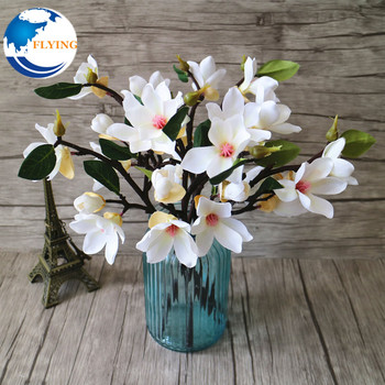 Artificial Flower Leaf Magnolia Floral Wedding Flower Bouquet Home
