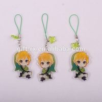 custom printed acrylic charms/acryklic keychains/key ring