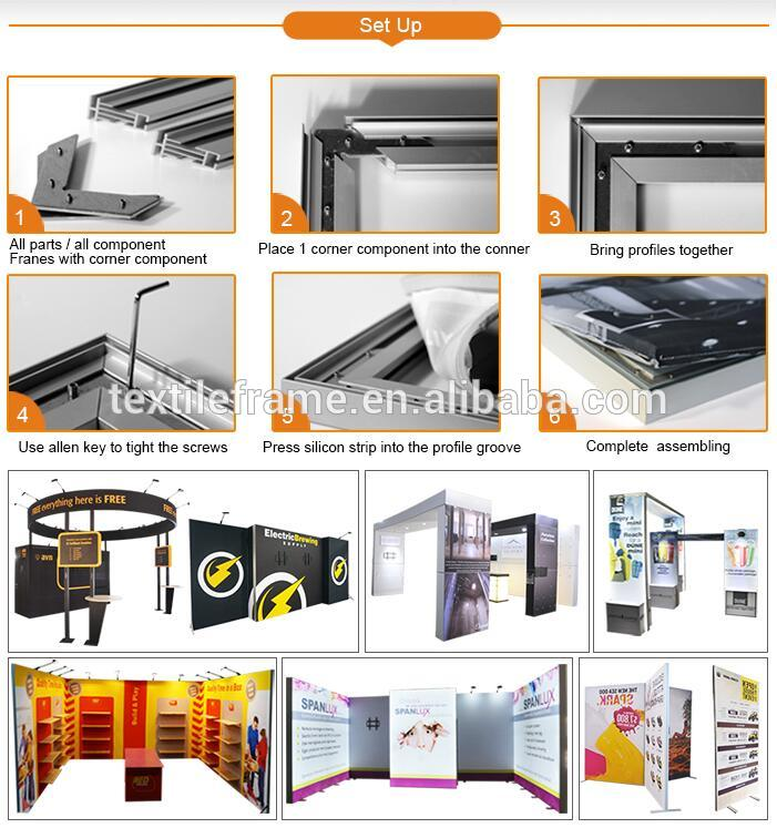 Easy set up 10x10ft 10x10 booth design ideas trade show exhibition