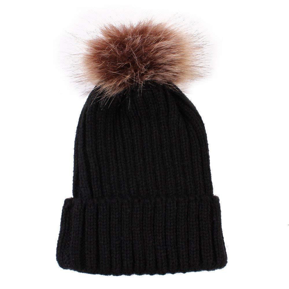 f311ac98f0e5d9 Get Quotations · Little Kids Solid Color Winter Warm Hat,Jchen(TM) Baby  Kids Boys Girls