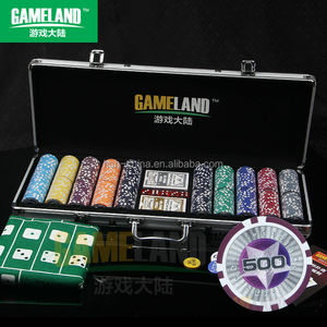 500 Pcs Poker Set 11.5g PS Star In Silver Aluminum Case, Round Corner