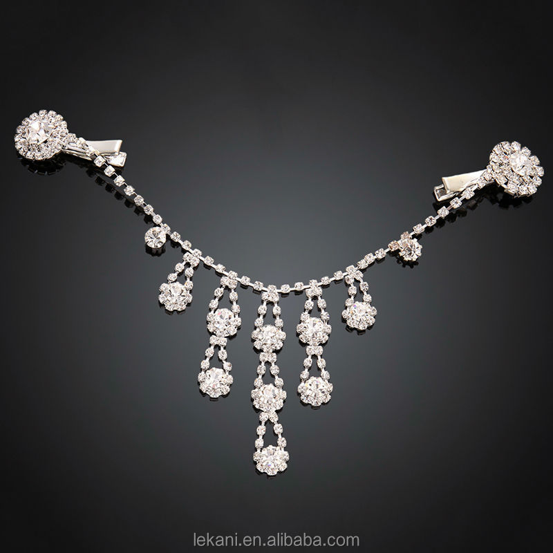 High Quality Shiny Wedding Top Grade Crystal Hair Jewelry