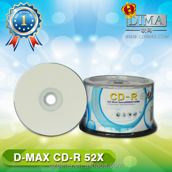 factory import cheap foods white inkjet printable cd discs