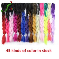 Wholesale synthetic hair extension high quality raw material ombre jumbo braid synthetic hair for braiding
