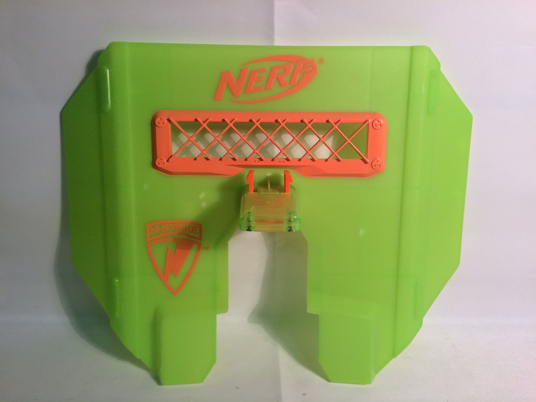 NERF Dart Gun N-Strike GREEN Blast Shield Tactical Stampede ECS Shield