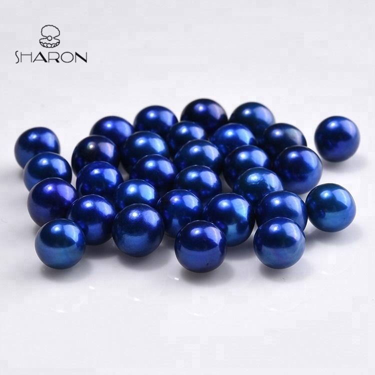 Lot 10 6mm-8mm Light Peacock Freshwater Potato Irregular Pearls Gems Loose Beads
