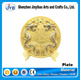 Souvenir Use and Gold Plated Dragon commemorative souvenir plate with standing