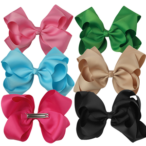 "6"" Grosgrain Ribbon Girls hair Bows Accessories With Clip Boutique Hairpins Hair Ornaments"