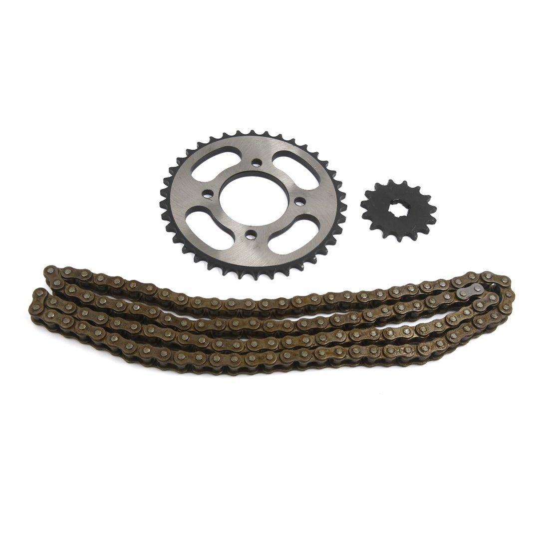 uxcell 3 in 1 O-Ringroller Chain Sprocket Kit 428H 116 Links Fit Ksmart JD125