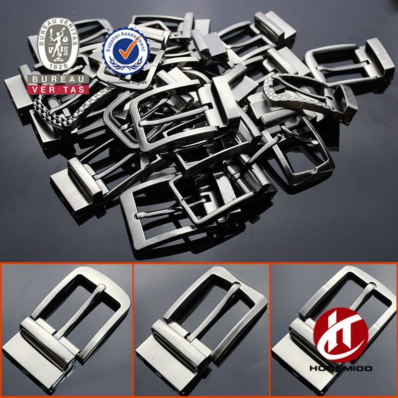 Popular men reversible belt buckle designer black nickle brush belt buckles