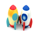 Kawaii Soft Squishy Slow Rising Jumbo Colorful Rocket Phone Strap Pendant Squeeze Bread Cake Relieves Stress Kid Toy