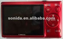 2012 The Newest Camera Ultra-slim model Best price 16MP 3X Optical zoom,4X Digital zoom 2.7TFT LCD digital video camera Red