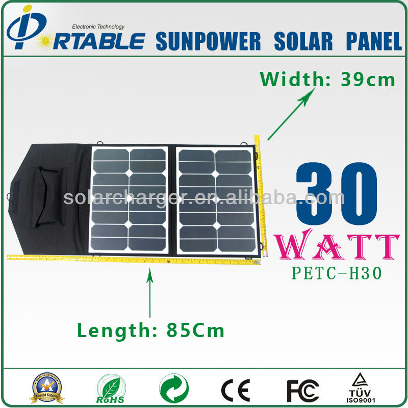 flexible solar panel sunpower 30Watt 18V solars panels for phone,fans