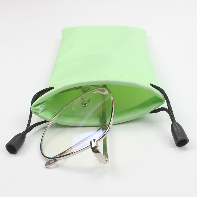 Eyeglasses Soft Cloth Drawstring Dust Microfiber Pouch Sunglasses Bag Case