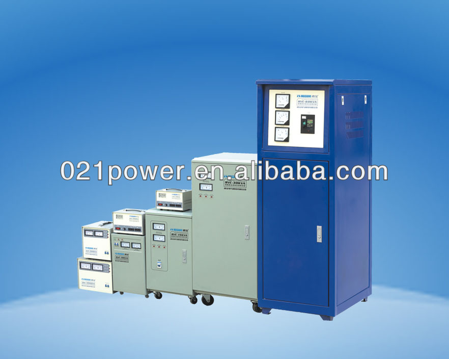 UPS power with automatic voltage regulator (AVR).