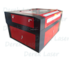 more efficient dual laser heads DRK1390 CO2 laser cutter engraver 80w 100w
