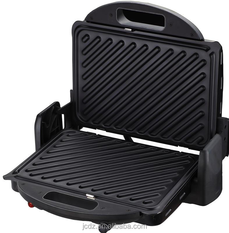 china barbecue 2000watt electric grills barbecue plate 2-slice contact panini grill