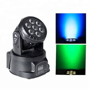 Guangzhou Factory Price 10W*7pcs RGBW 4 in 1 Professional MIni LED Moving Head Light LED Washing Show Light Stage Lighting