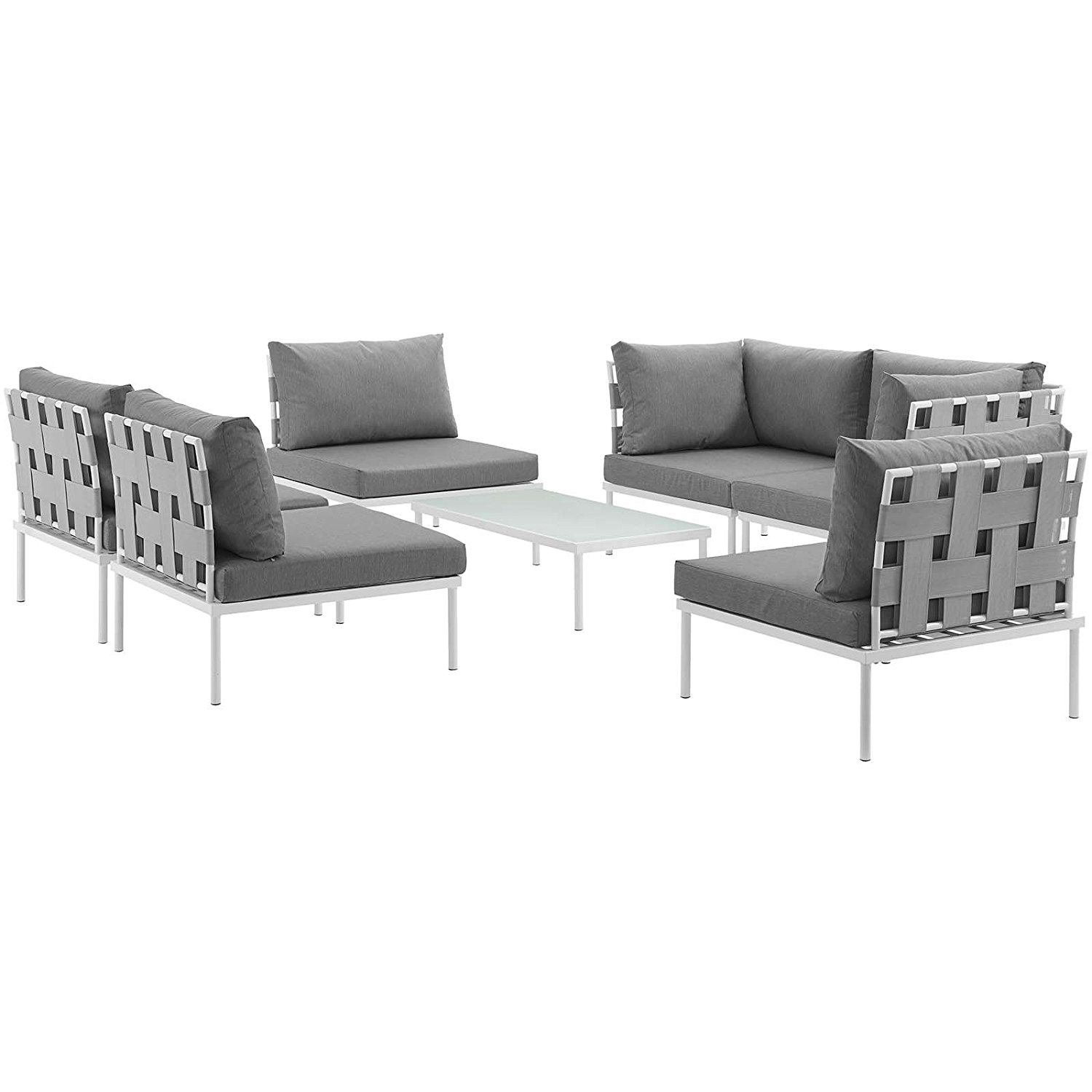 Sandhill 7 Piece Outdoor Sofa Sectional Set Seats 5 In