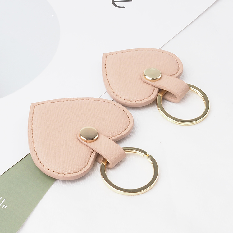 new collection genuine saffiano leather heart shape key chain