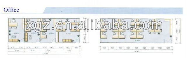 hot selling modernized prefabricated one bedroom prefab house