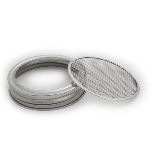86mm Canning jar stainless steel strainer sprouting lid screen metal mesh screen filter