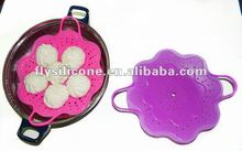 Microwave Silicone Rubber Food Steamer Basket for Cooking
