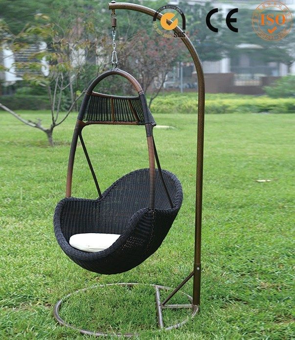 Langfang china outdoor gazebo swing round rattan outdoor for Round porch swing