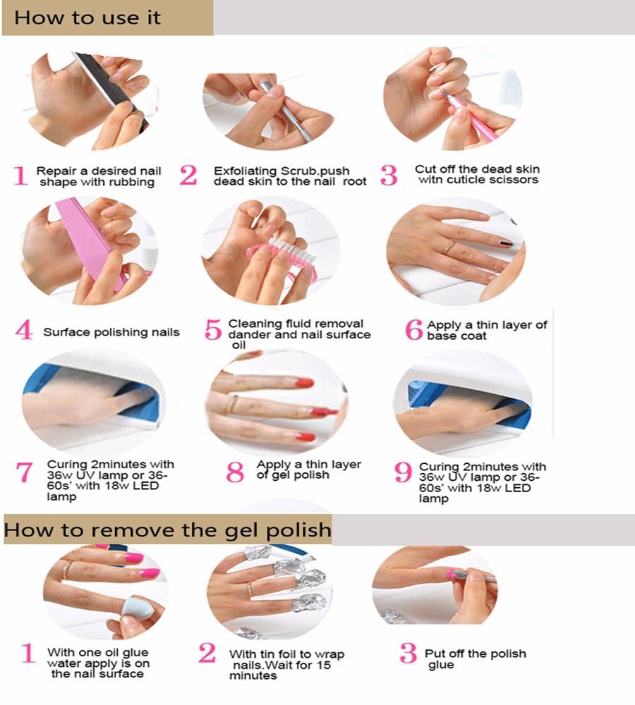 Professional 3 Steps Uv Gel Polish,High Quality Gel Nail ...