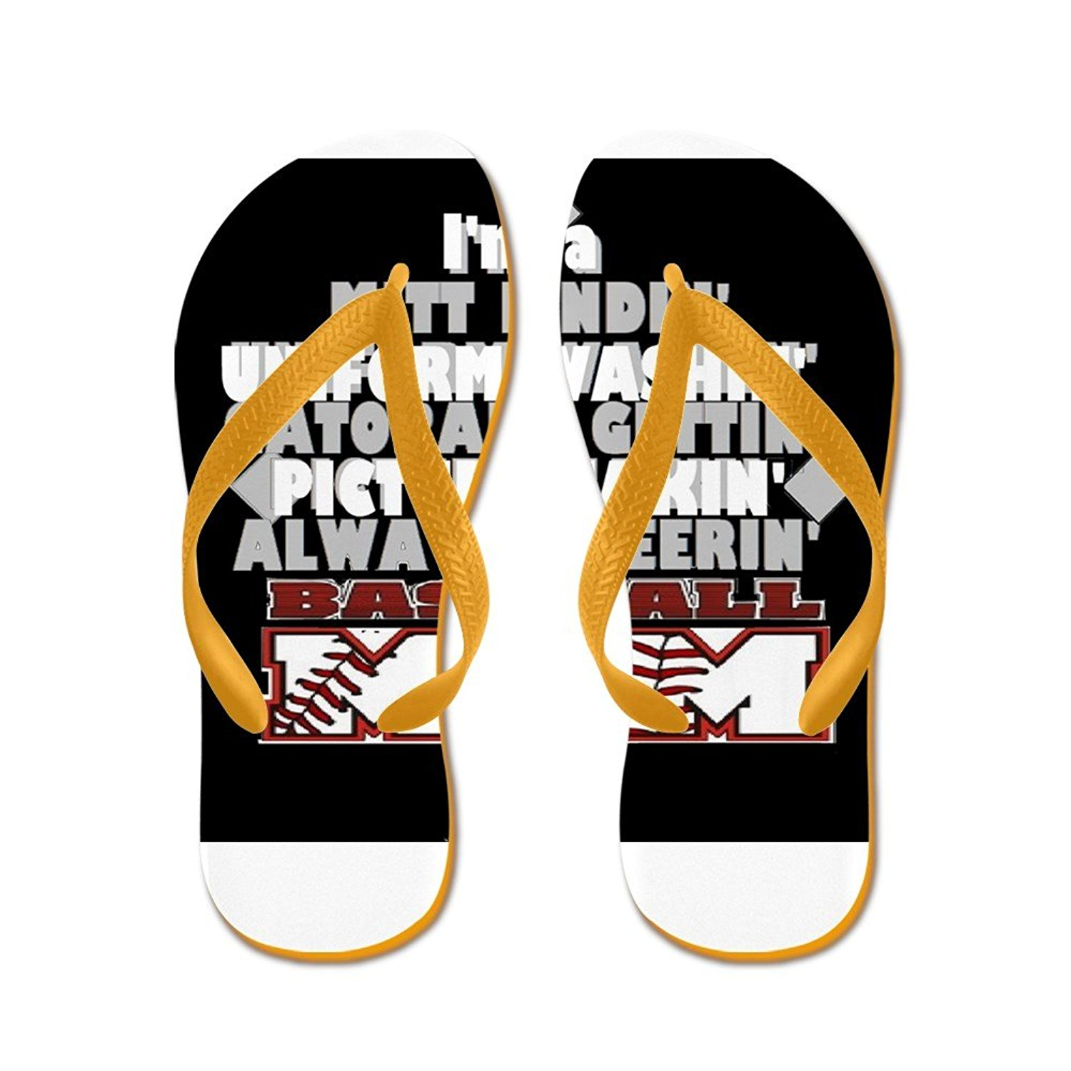 78c2a2743c717d Get Quotations · CafePress Baseball Mom - Flip Flops