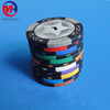 14pcs High quality Poker Chips 14g Clay Iron ABS Casino Chips Texas Hold'em Poker Wholesale Wheat Poker Chips
