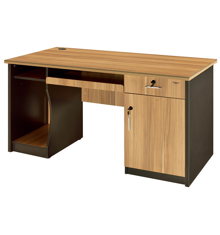 Classic Wooden Computer Desk With Keyboard Drawer And Cpu