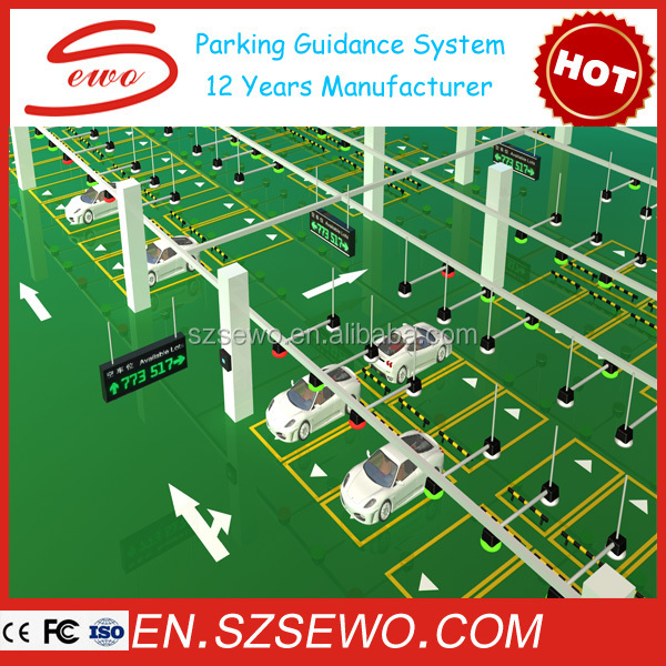 Spacing Of Parking Lot Lights: Rs485 Communication Parking Lot Space Led Indicator