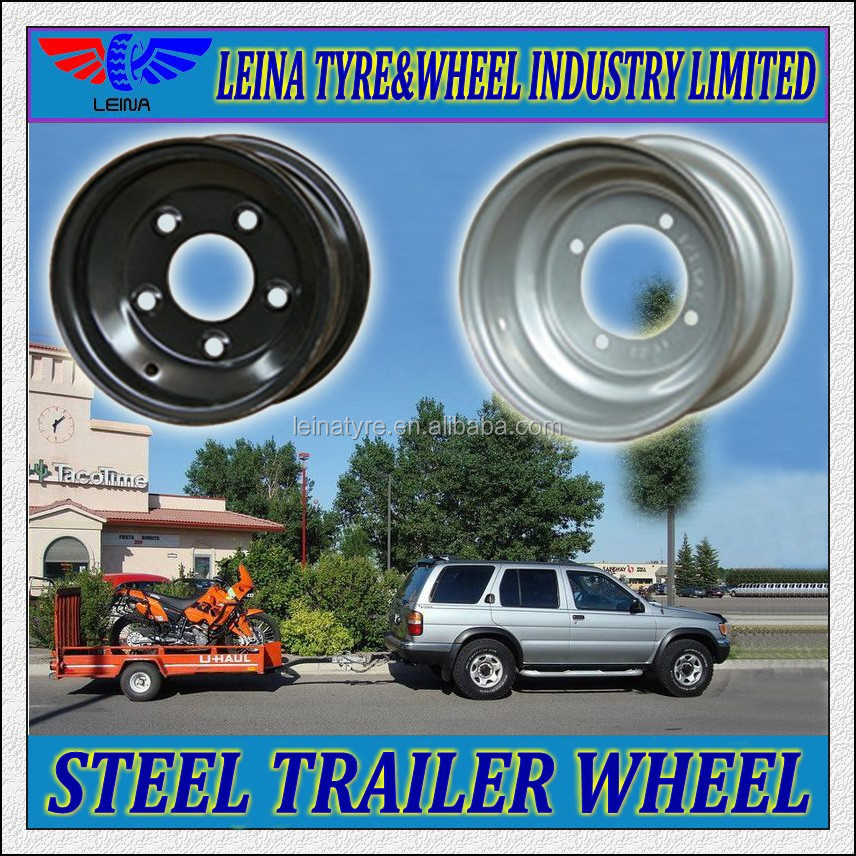 3.75x8 5.5x8 5.0x7 China Tubeless Steel Trailer Wheels Rims - Buy ...