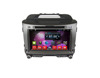 Factory Qcta core Car Dvd player/ Android 7.1 car cps navigator/car radio gps with carplay dual zone display for sportage R
