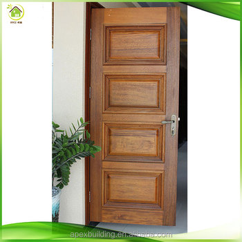 Walnut Solid Wood Exterior Door Wood Entry Door Handmaking Paint ...