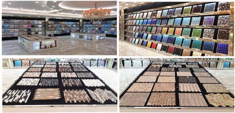 Foshan Crystal Glass Mosaic Tile Trim Strip Glass Tile