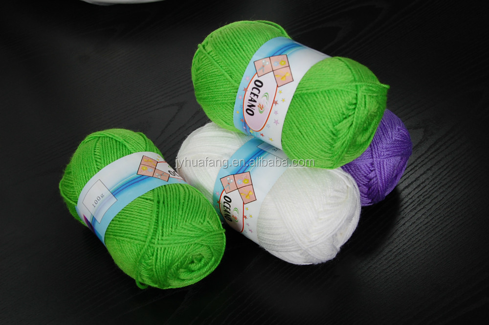 handknitting yarn, 100% acrylic