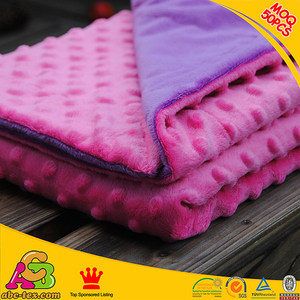 Small QOQ 50mts mixed color China factory low price coral fleece baby blanket