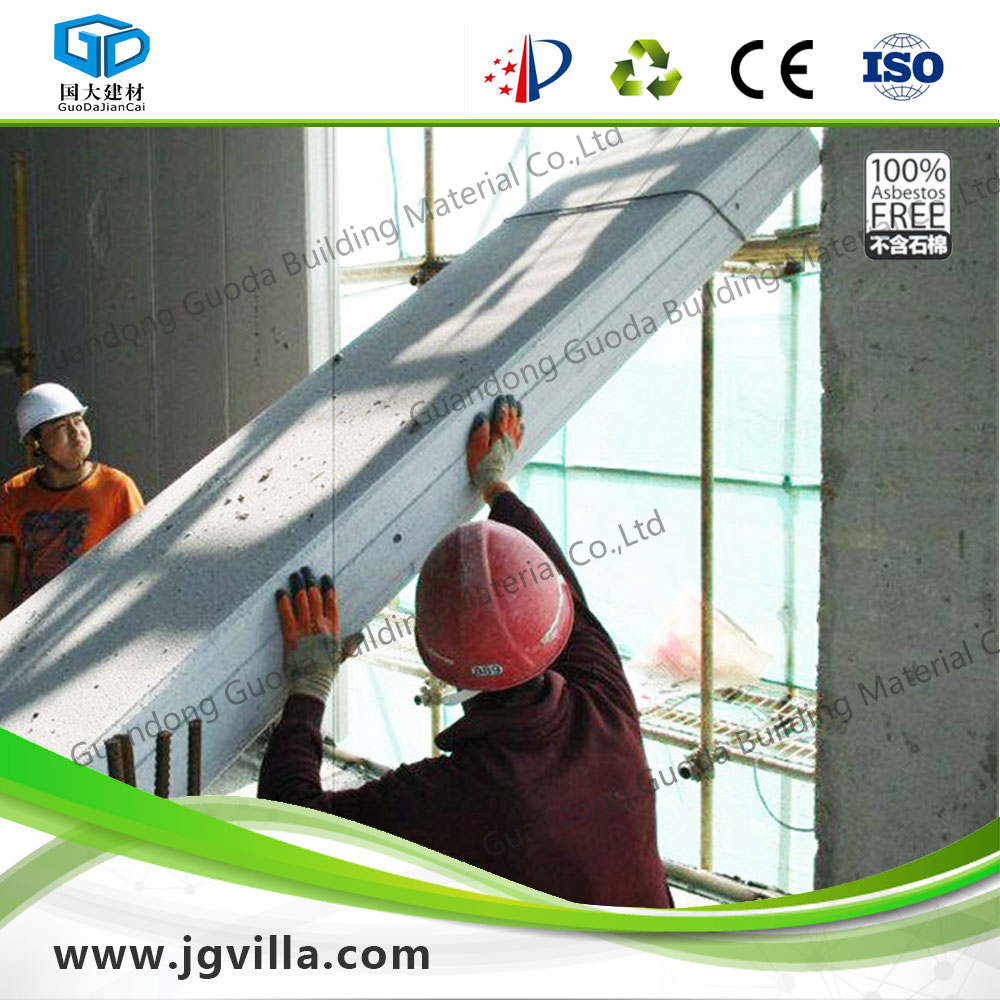 fast construction aac/alc soundproof prefabricated wall panel