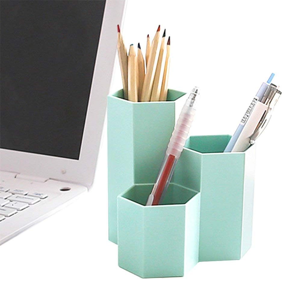Pencil Holders,Pen Holders Desktop Organizer Pen Pencil Makeup Brush Holder Container Storage Desk Caddy Tidy Wooden Table Desktop Work Space Cosmetic Holders Tray Pen Cups for Office School Home
