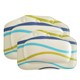 Geometric Pattern Printing Soft and Non-deformable Pvc Foam Spa Bath Pillow with Suction Cups