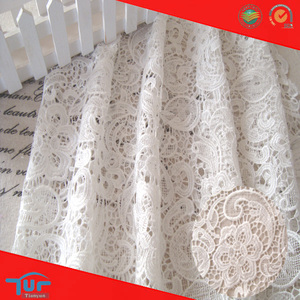 Special Design Lace Embroidery 100 Spun Polyester Fabric for Skirt