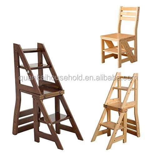 Bamboe Multi functionele Bibliotheek Ladder Stoel Buy Bibliotheek Ladder Stoel,Vouwen Ladder Stoel,Stap Ladder Stoel Product on