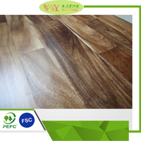 Asian Walnut Acacia Handscraped Flat solid Hardwood Flooring wooden flooring