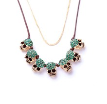 Xl00846 새 Designs Lovely 석 두개골을 skullhead Charm Necklace Jewelry Women 패션 도매 <span class=keywords><strong>펑크</strong></span> <span class=keywords><strong>목걸이</strong></span>